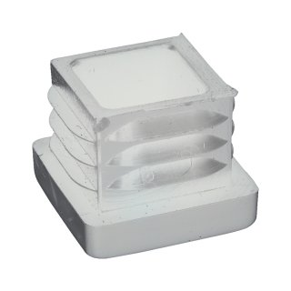 Vierkant-Rohrstopfen 30 x 15 mm weiß