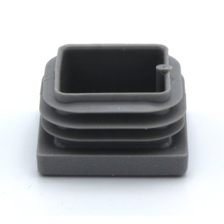Vierkant-Rohrstopfen 30 x 20 mm grau