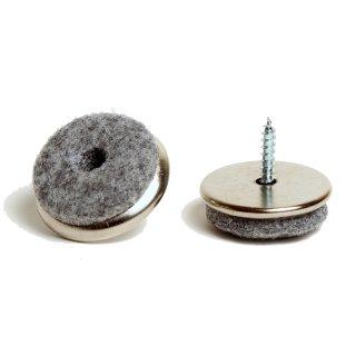 Filzgleiter Metall Ø 22 mm mit Schraube