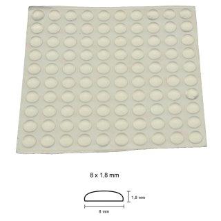 Silikon-Puffer 8 x 1,8 mm - 100 Stück