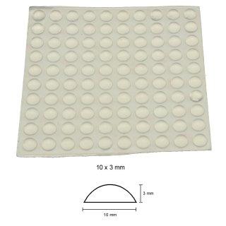 Silikon-Puffer 10 x 3 mm - 100 Stück