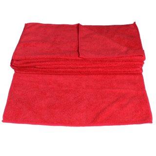 Mikrofasertücher 40x40 cm rot - 10 Stück