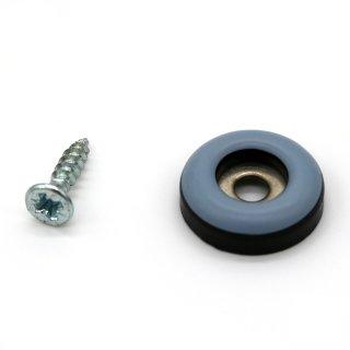 Teflongleiter rund mit Schraube Ø 19 mm, Stärke 5 mm