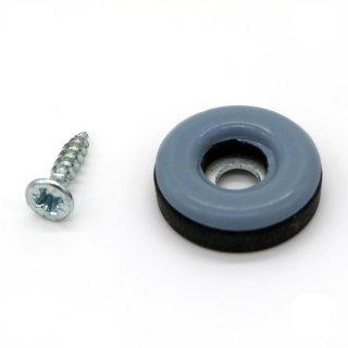 Teflongleiter rund mit Schraube Ø 22 mm, Stärke 5 mm