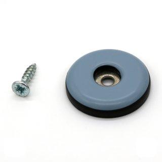 Teflongleiter rund mit Schraube Ø 25 mm, Stärke 5 mm
