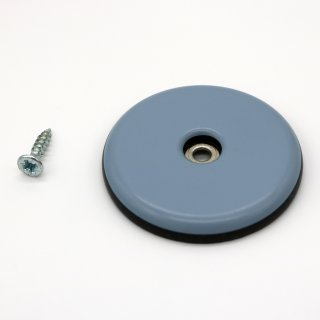 Teflongleiter rund mit Schraube Ø 50 mm, Stärke 5 mm