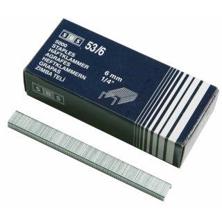 Tackerklammern, Typ 53 x 6 mm, 5.000 Stück