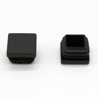 Vierkant-Rohrstopfen 20 x 20 mm schwarz