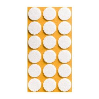 Filzgleiter selbstklebend, Ø 25 mm, weiß, 18 Stück
