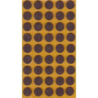 Filzgleiter selbstklebend Braun Ø 14 mm 45 Stück