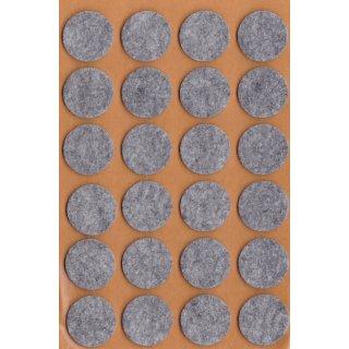 Filzgleiter selbstklebend, Ø 22 mm, grau, 24 Stück