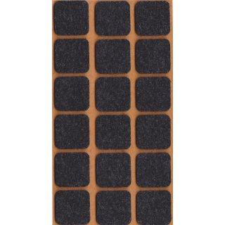 Filzgleiter selbstklebend, 25 x 25 mm, schwarz, 18 Stück
