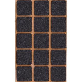 Filzgleiter selbstklebend, 30 x 30 mm, schwarz, 15 Stück