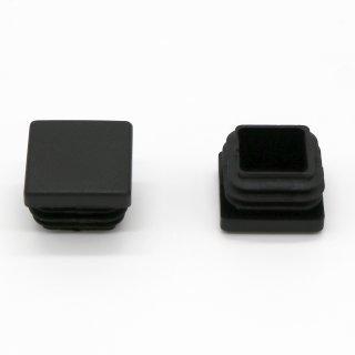 Vierkant-Rohrstopfen 22 x 22 mm schwarz