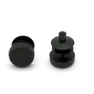 Rundstopfen Ø 14 mm schwarz