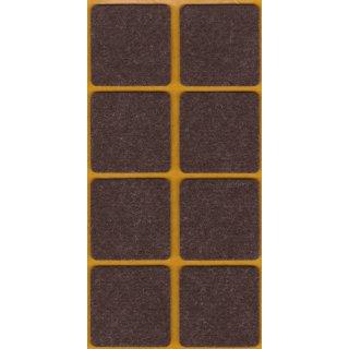 Filzgleiter selbstklebend Braun 38x38 mm 8 Stück