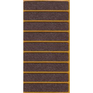 Filzgleiter selbstklebend Braun 80x15 mm 9 Stück