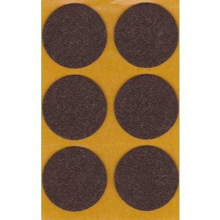Filzgleiter selbstklebend Braun Ø45 mm 6 Stück