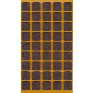 Filzgleiter selbstklebend Braun 14x14 mm 45 Stück