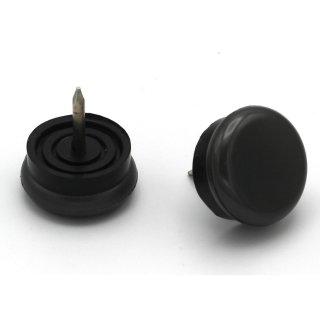 PA6 Kunststoffgleiter mit beweglichem Stift Ø 20 mm