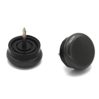 PA6 Kunststoffgleiter mit beweglichem Stift Ø 18 mm