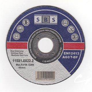 10 Stück Inox Trennscheiben 115 x 1,0 x 22 mm