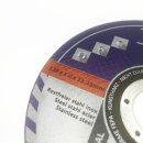 10 Stück Inox Trennscheiben 125 x 1,0 x 22 mm